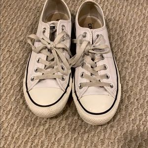 Converse white leather shoes size 8